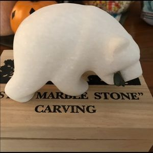 Hand carved marble stone